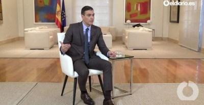 29/10/2019 - Entrevista de 'eldiario.es' al presidente del Gobierno en funciones, Pedro Sánchez, desde La Moncloa. / CAPTURA - ELDIARIO.ES