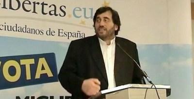 Manuel Bofill, exsecretario general de Cs, en un acto con Libertas en 2009.