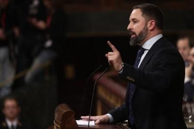 El líder de Vox, Santiago Abascal, en el Congreso de los Diputados. / Europa Press
