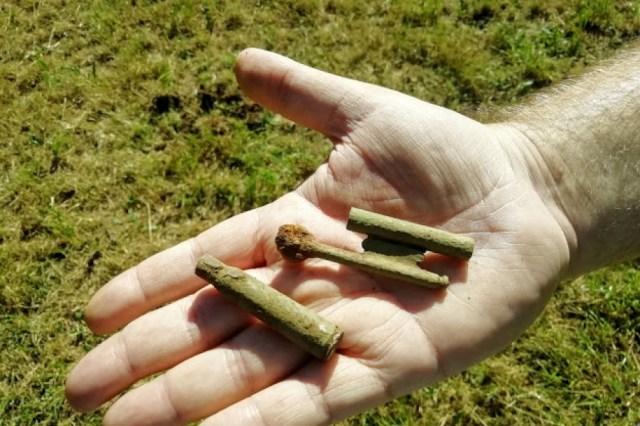 Balas aparecidas en la fosa común de El Rellán.- ARMH