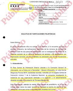 Fragmento de la denuncia de los Mossos d'Esquadra contra la Policía Nacional ante la Audiencia.