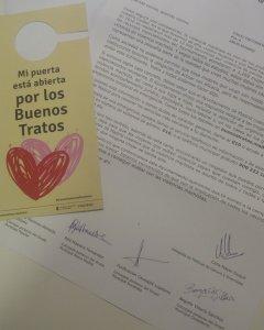 Carta del Ayuntamiento de Madrid que inicia una campaña de apoyo a víctimas de violencia de género.