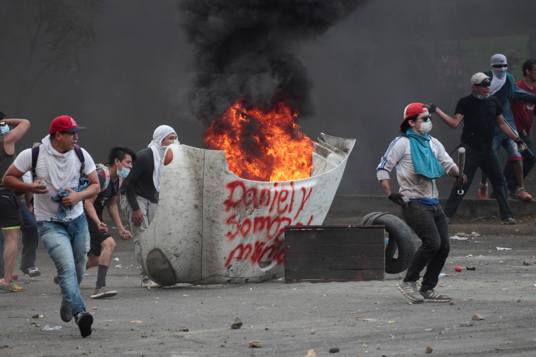Resultado de imagen para imagenes enfrentamientos en Nicaragua