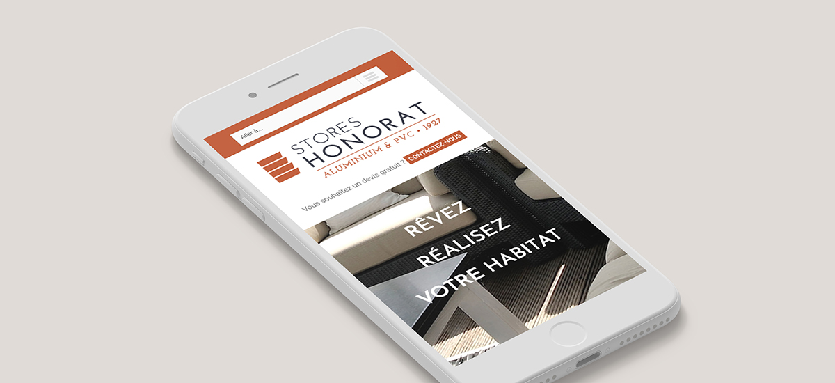 Stores Honorat - Site Internet - Responsive