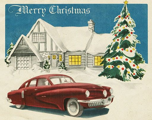 """By Alden Jewell (Tucker Corporation Christmas Card, 1947) [CC BY 2.0 (http://creativecommons.org/licenses/by/2.0) or Public domain], via Wikimedia Commons"""