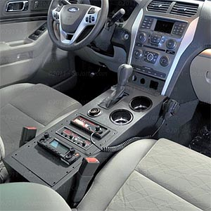 2011 Ford Explorer Radio Console 6385 Public Safety