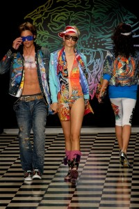 Models on the runway for Ed Hardy Fashion show during Los Angeles Fashion Week 10/13/2008 © Glenn Francis | PacificProDigital.com