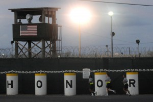 """The """"Honor Bound"""" sign outside Guantánamo Bay detention facility © Joshua Nistas 