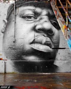 Street art depicting Biggie Smalls by Aaron-H © Aaron-H | Flickr