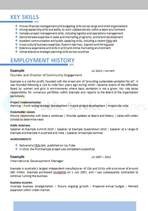 example 2 page resumes
