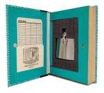 Decorative Secret Hollow Book Safe with Flask