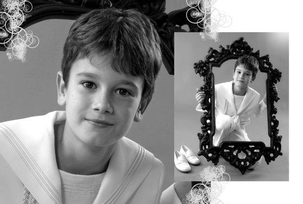 Fotos Comunión en blanco y negro