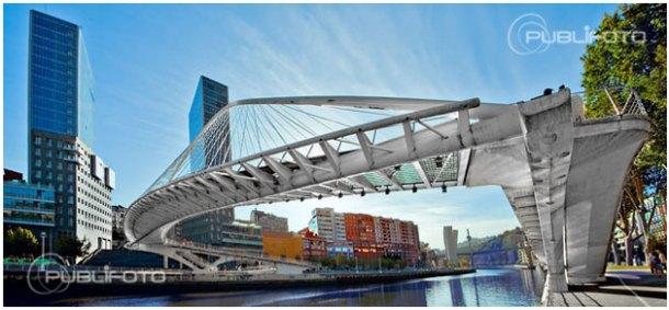Puente Zubizuri - Bilbao / Bilbo - Bizkaia