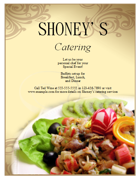 Catering Flyer Template – Publisher Flyer Templates