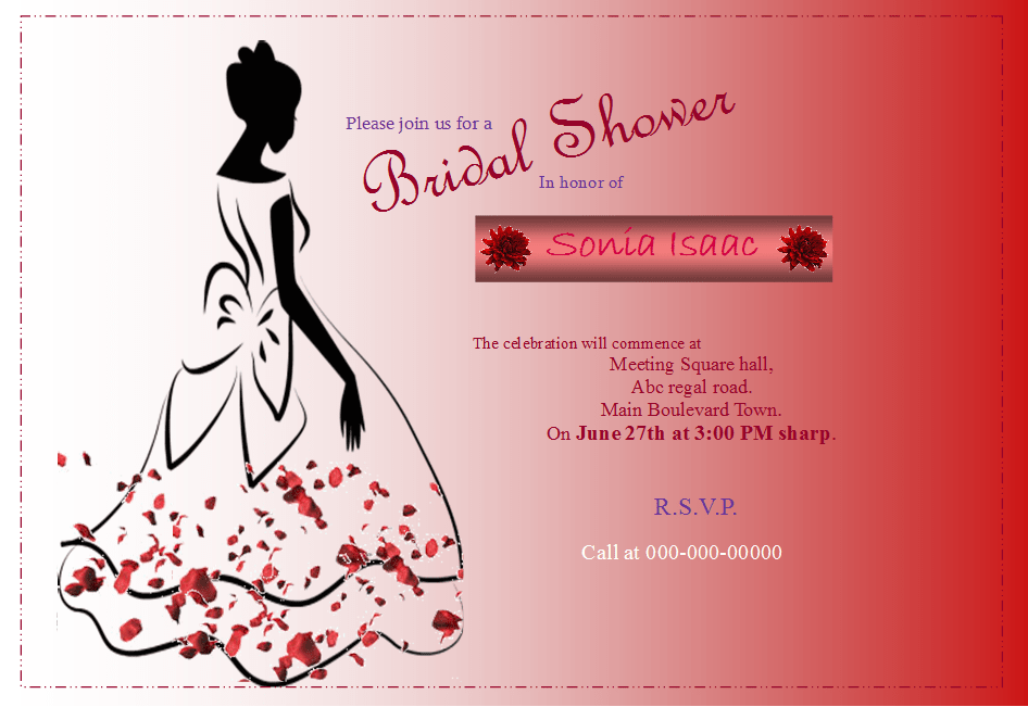 bridal shower flyer template publisher flyer templates