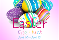 Egg Hunt Easter Party Flyer Template