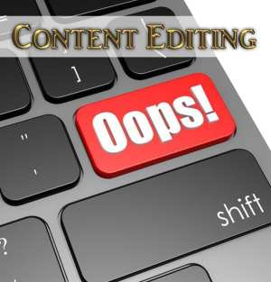 Image with OOPS on the keyboard representing Content Editing Services for Self-Publishing Services
