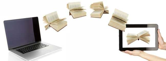 Process of printing a book from Lapto to ebook.