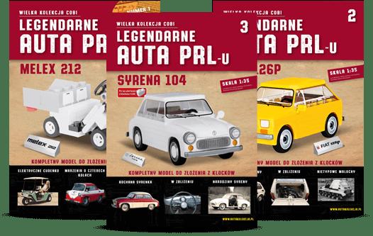 "1, 2 i 3 numer prenumeraty ""Legendarne Auta PRL-u"""