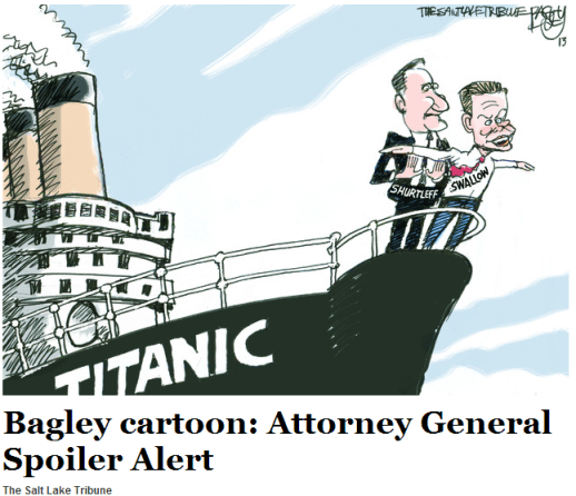 Bagley cartoon  Attorney General Spoiler Alert   The Salt Lake Tribune