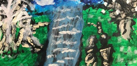 Llovía, no agua: pintura
