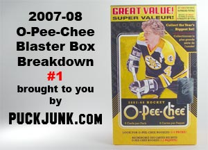 2007-08 OPC blaster box break #1