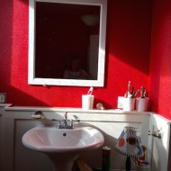 A mirror from Habitant perfect for this room