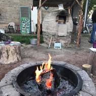 Our first Sat oven and fire pit lighting