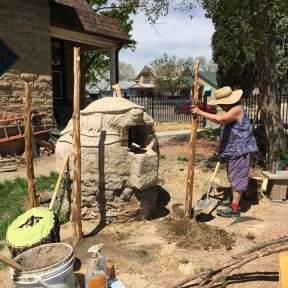 maya digging holes for tree posts