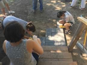 Patio uses up old bricks