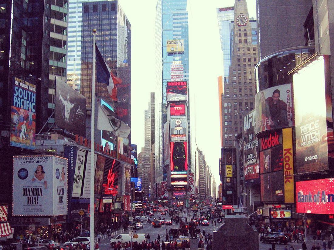 Atardecer en Times Square