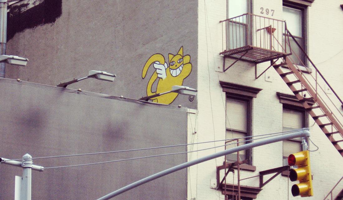 Grafitti en Midtown Manhattan