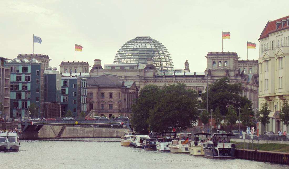 Reichstag desde atrás