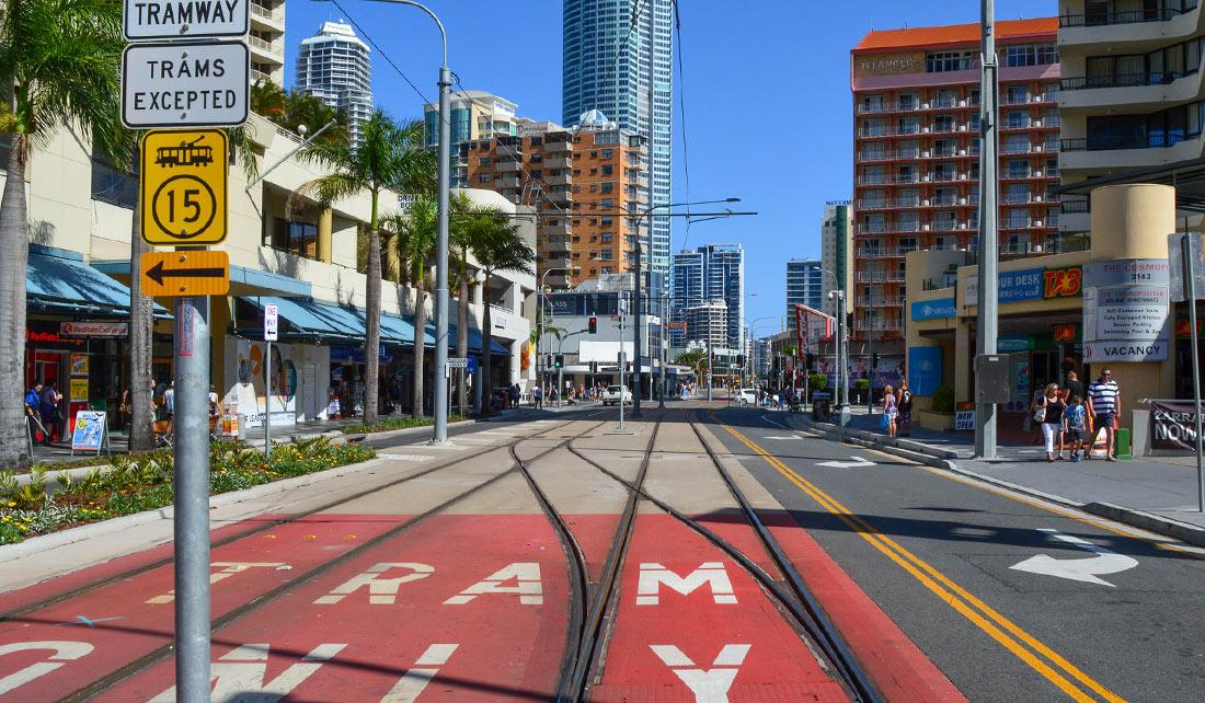 El tranvía de Gold Coast