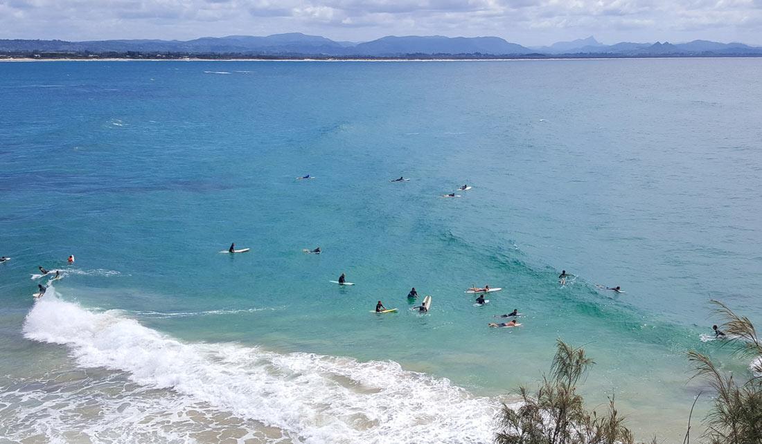 Surfers - Bahía de Byron Bay