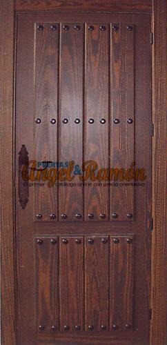 Modelo 102 Puerta de interior rstica  PuertasAngelyRamones