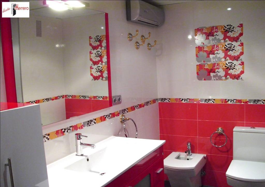 Reformas de bao en Zaragoza Bao estilo Zurich Rojo