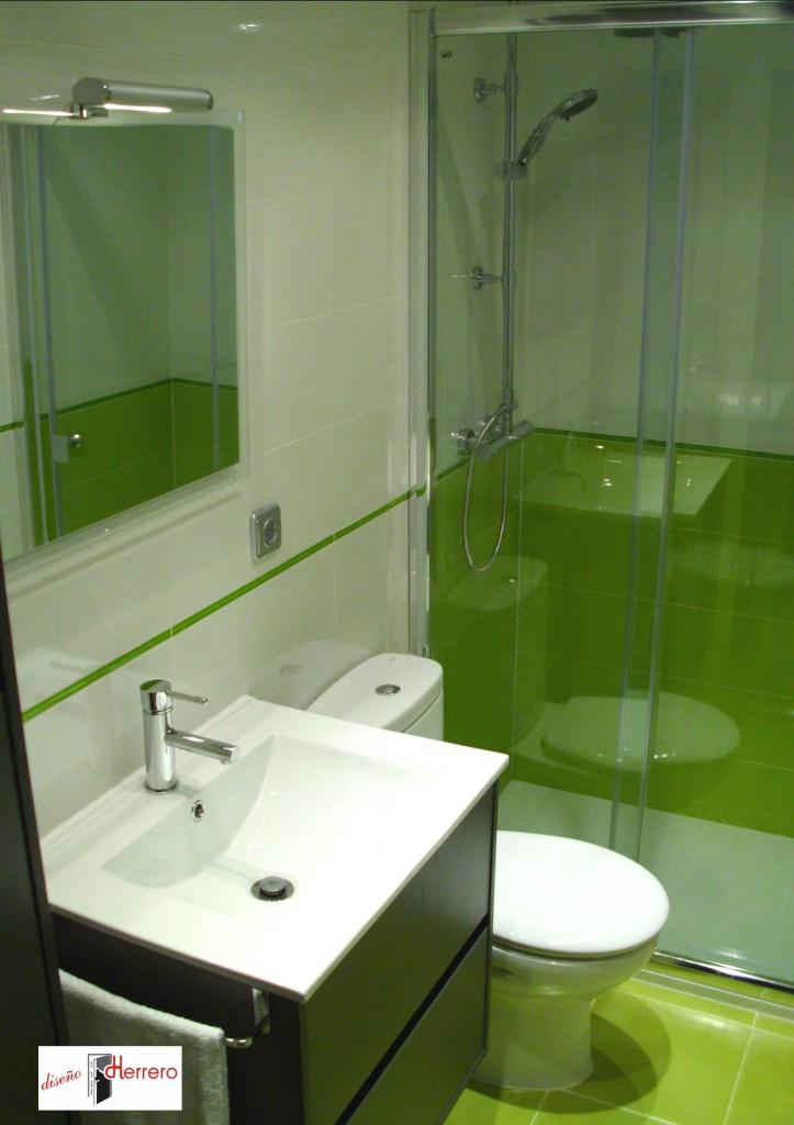 Reformas de bao en Zaragoza modelo Zurich Verde  Diseo