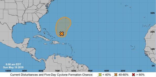 Baja presión al norte de Puerto Rico pudiera convertirse en tormenta