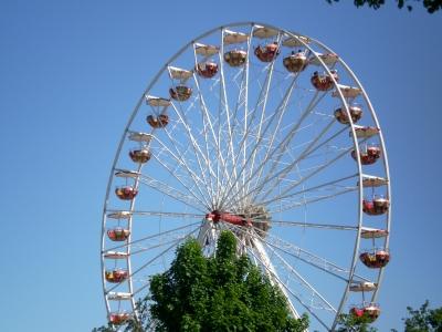 Riesenrad auf dem Volksfest