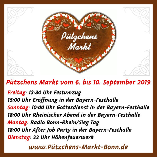 Highlights beim 652. Pützchens Markt vom 06. September bis 10. September 2019