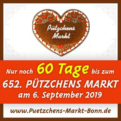 Nur noch 60 Tage bis zum 652 Pützchens Markt ab 6. September 2019!