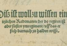 Öffentliche Kurzführung im Stadtmuseum: Der Erfurter Stadtrat in der frühen Neuzeit
