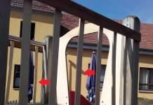 Der Rutschenturm im Ortsteil Schwerborn wurde manipuliert