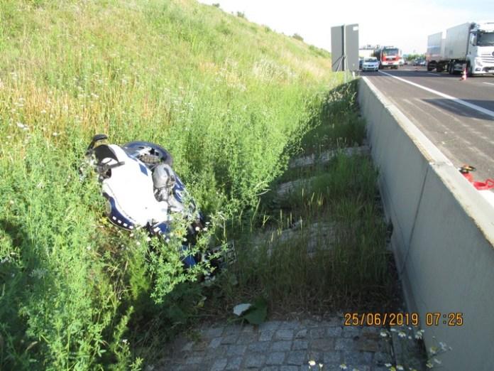 API-TH: Kradfahrer bei Unfall schwer verletzt
