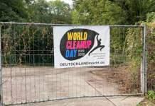 Das Motto des Tages auf einem Plakat