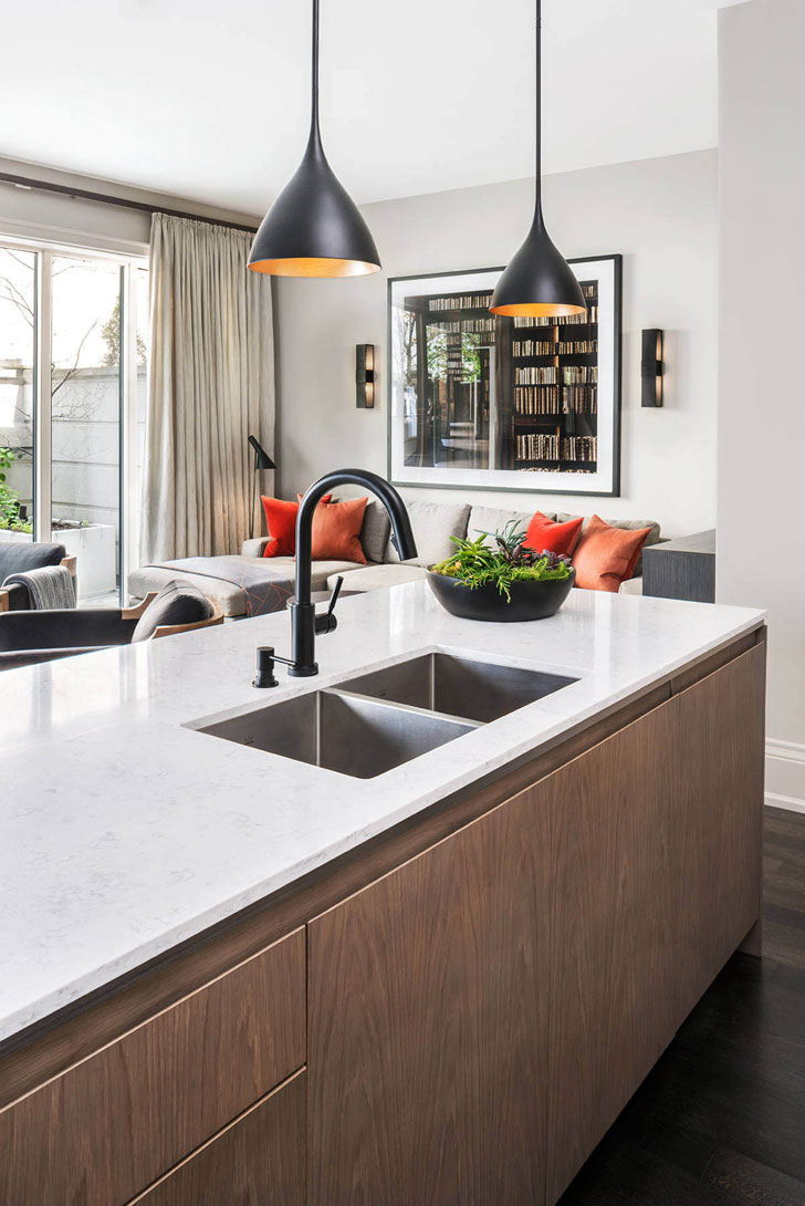 Luxury townhouse with clean modern interiors in Toronto ...