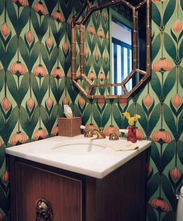 интерьер ванной комнаты в стиле модерн - фото