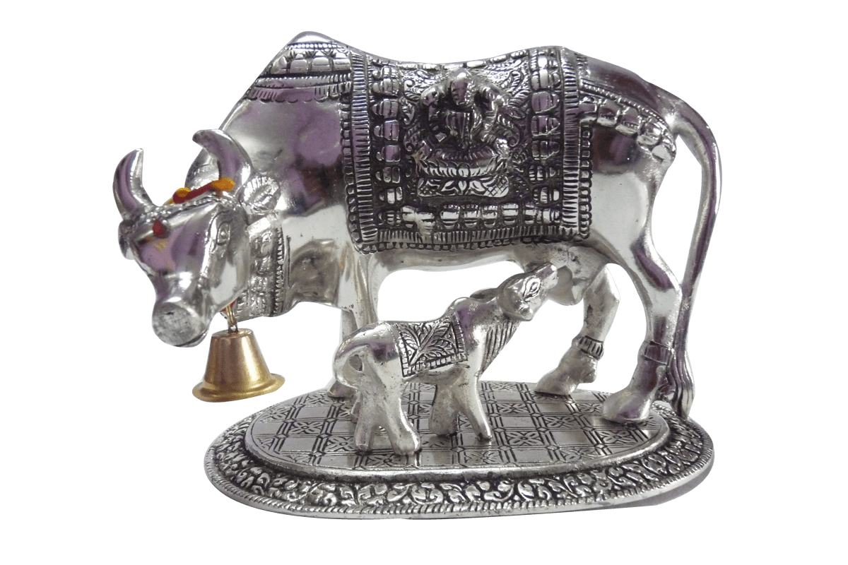 Cow and Calf Silver Big  Indian Wedding Return Gifts for