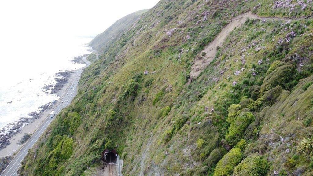 Slip on the Escarpment Track, north of Pukerua Bay